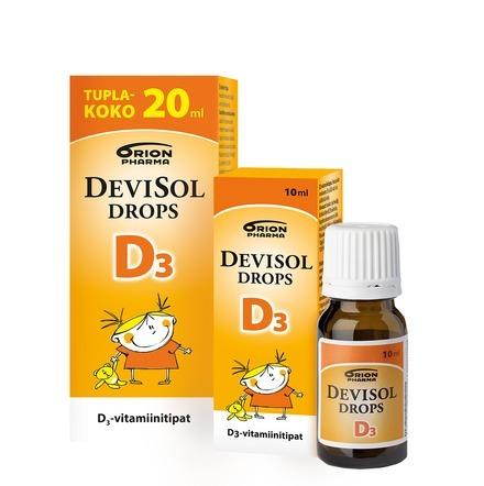 Devisol Drops D3 10 ja 20 ml