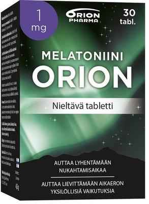 Melatoniini Orion 1 Mg 30 Tabl Niltava Tabletti Paketti Vasemmalta WEB-1