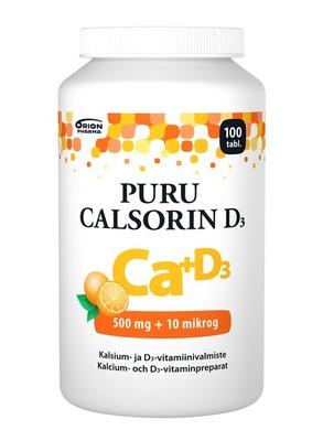 Puru Calsorin D3 500 mg + 10 mikrog 100
