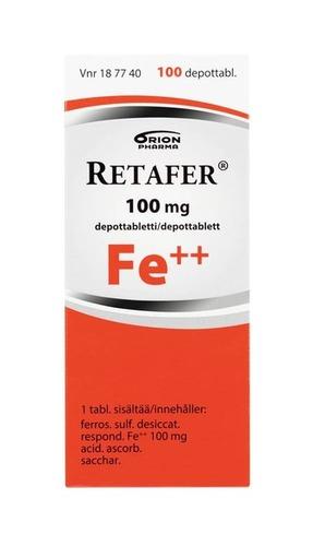 Retafer 100mg 100tabl