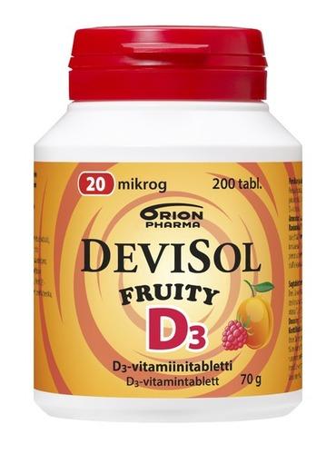 DevisolFruity 20mcg 200tabl RGB