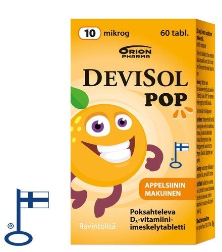 Devisol POP 60 Tabl Pakkaus Oikea 12610 Flag