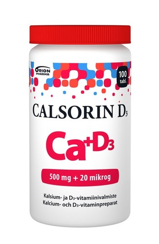 Calsorin D3 500 mg + 20 mikrog 100