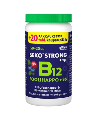 Beko Strong B12+foolihappo+B6 Chew kampanja 150+20kpl