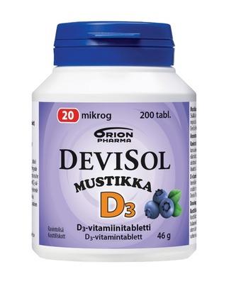 Devisol Mustikka 20 mikrog