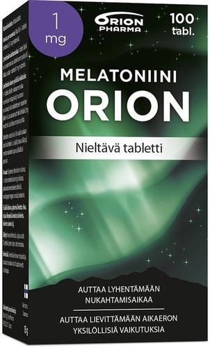 Melatoniini Orion 1 Mg 100 Tabl Nieltava Tabletti Paketti Vasemmalta WEB-1