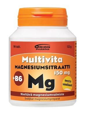 Multivita Magnesiumsitraatti nieltava 90 tabl