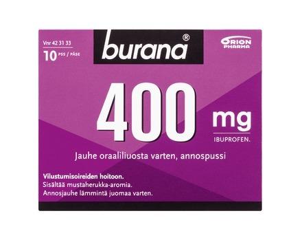 Burana 400 mg jauhe oraalisuspensiota varten 10 annospussia srgb