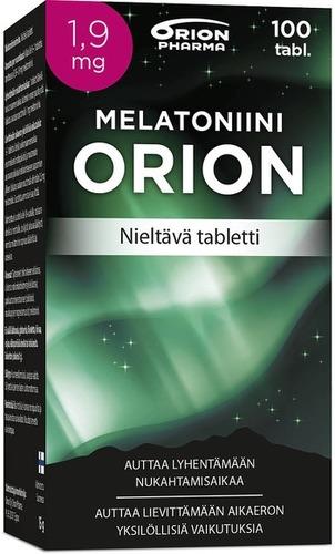 Melatoniini Orion 1 9 Mg 100 Tabl Nieltava Tabletti Paketti Vasemmalta WEB-1