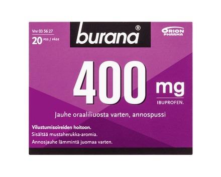 Burana 400 mg jauhe oraalisuspensiota varten 20 annospussia srgb