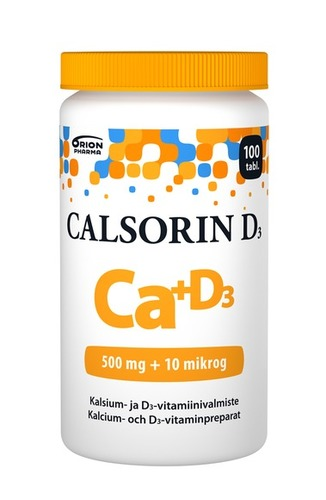Calsorin D3 500 mg + 10 mikrog 100