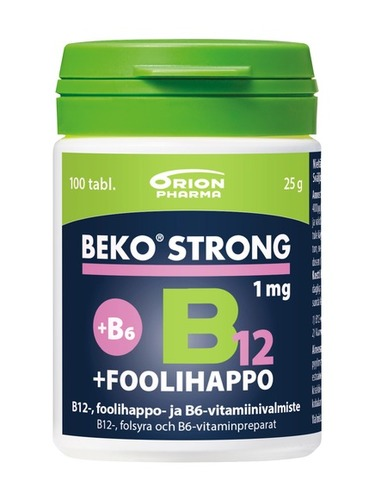Beko Strong 1 mg foolihappo B12