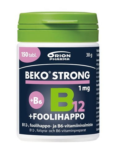 Beko Strong 1mg foolihappo B12 150 tabl