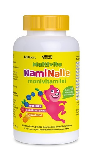 Multivita NamiNalle Monivitamiini 120 kpl